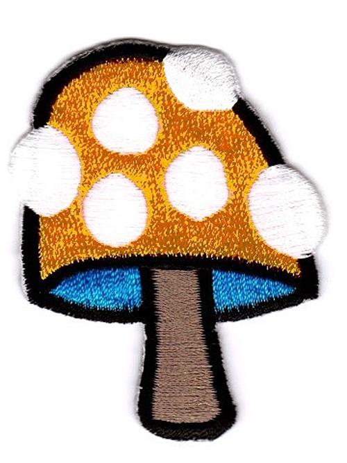 Applikation Patch Scrap-Tex Pilz 5 x 6cm Farbe: Orange