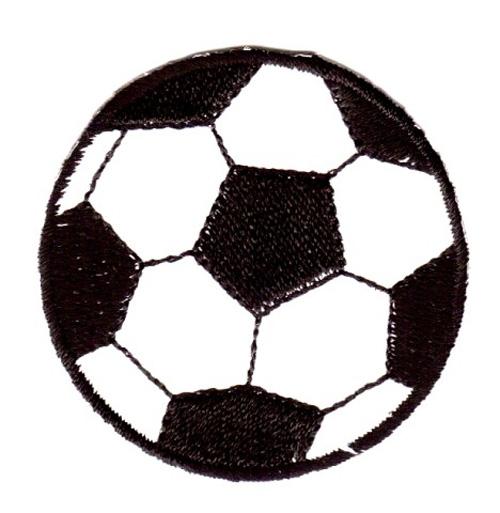 1 Applikation Fußball Durchmesser 4,5 cm VOR60-2