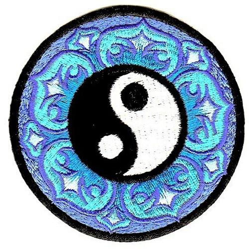 Applikation Tribal Patch Om Aum Mandala Ø 8 cm