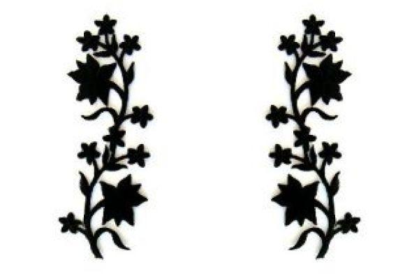 1 Paar historische Applikationen klein AA251-4 Farbe: Schwarz