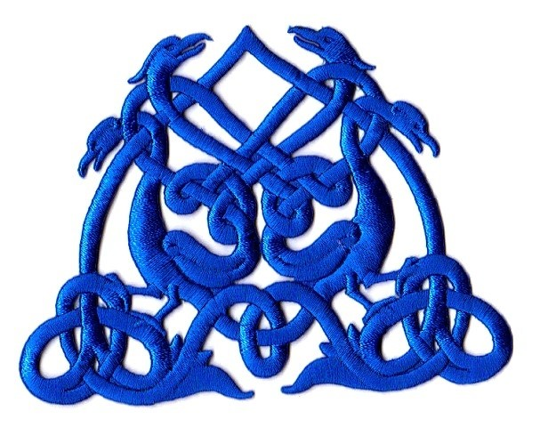 Applikation Patch Tribal 11,5 x 9cm Farbe: Blau
