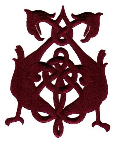 Applikation Patch Tribal 8 x 10,5cm Farbe: Bordeaux