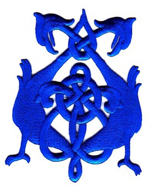 Applikation Patch Tribal 8 x 10,5cm Farbe: Blau
