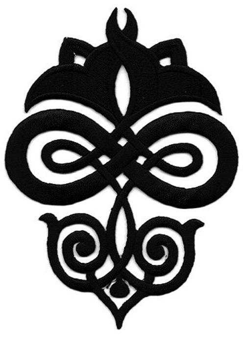 Applikation Patch Tribal 9,3 x 12,5cm Farbe: Schwarz