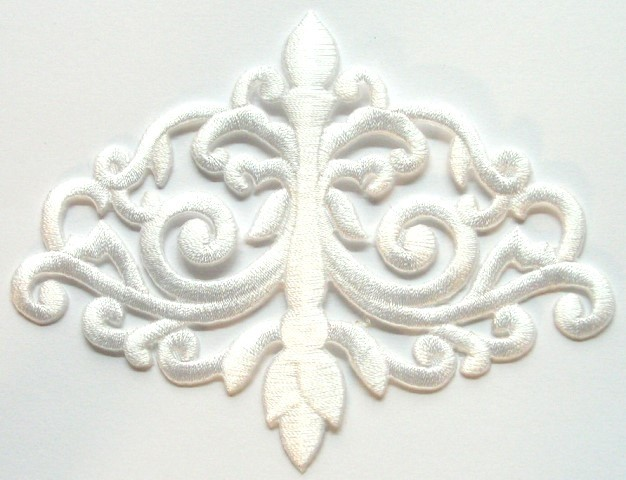 Applikation Patch Tribal 11 x 8,5cm Farbe: Weiss