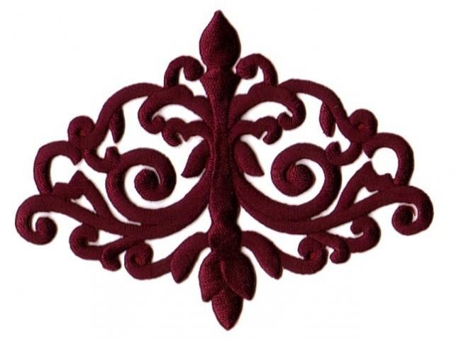 Applikation Patch Tribal 11 x 8,5cm Farbe: Bordeaux