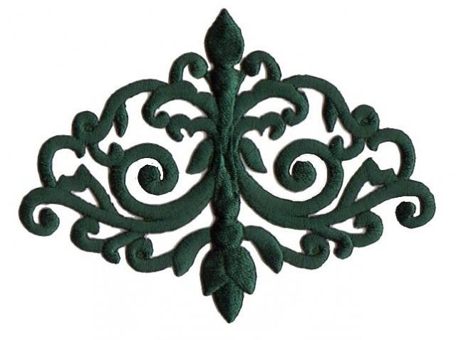 Applikation Patch Tribal 11 x 8,5cm Farbe: Tannengrün