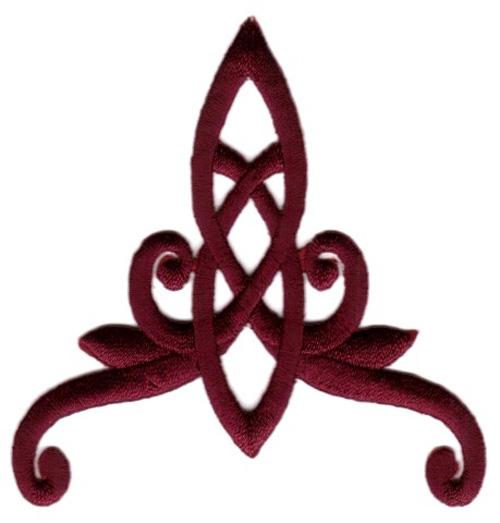 Applikation Patch Tribal 8 x 8,5cm Farbe: Bordeaux