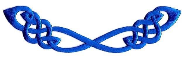 Applikation Patch Tribal 13,5 x 3,5cm Farbe: Blau