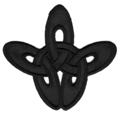 Applikation Patch Tribal 8,5 x 8cm Farbe: Schwarz