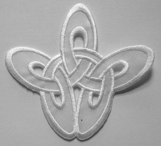 Applikation Patch Tribal 8,5 x 8cm Farbe: Weiss