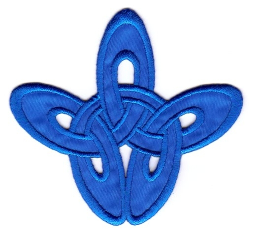 Applikation Patch Tribal 8,5 x 8cm Farbe: Blau