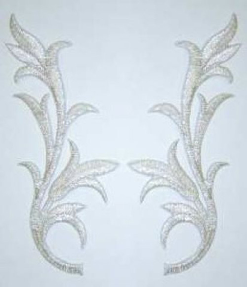 1 Paar historische Applikationen klein AA252-2 Farbe: Silber