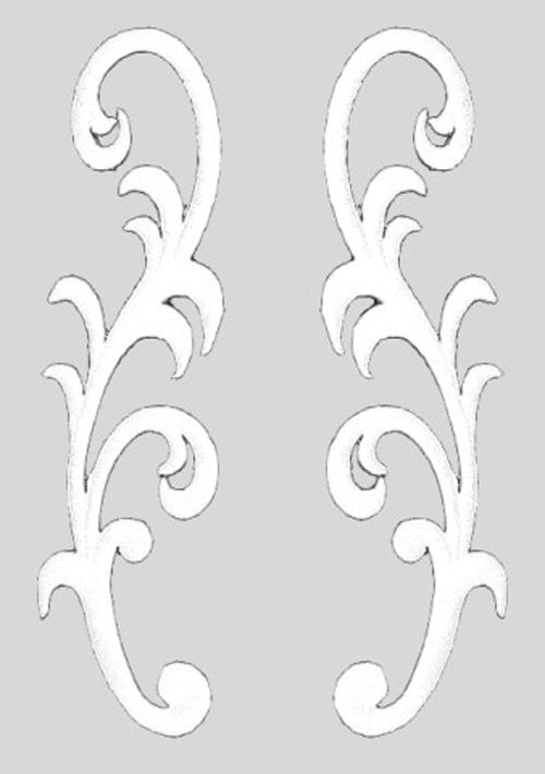 1 Paar Applikationen Farbe: Weiss 3,5 x 13cm höhere Qualität