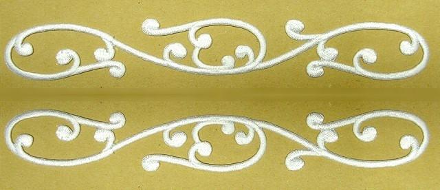 1 Paar Applikationen Farbe: Weiss 20 x 3cm höhere Qualität