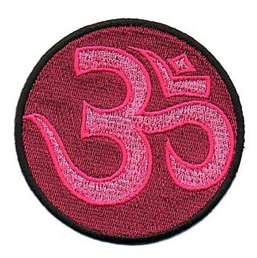 1 Stück Applikation Om Aum Mandala Durchmesser 8cm