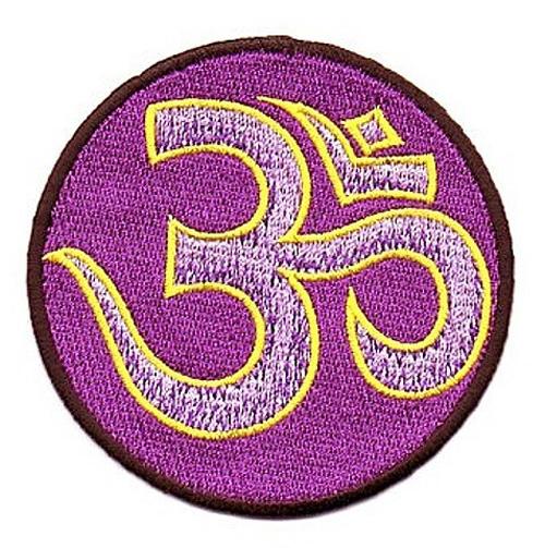 1 Stück Applikation Om Aum Mandala Durchmesser 8 cm