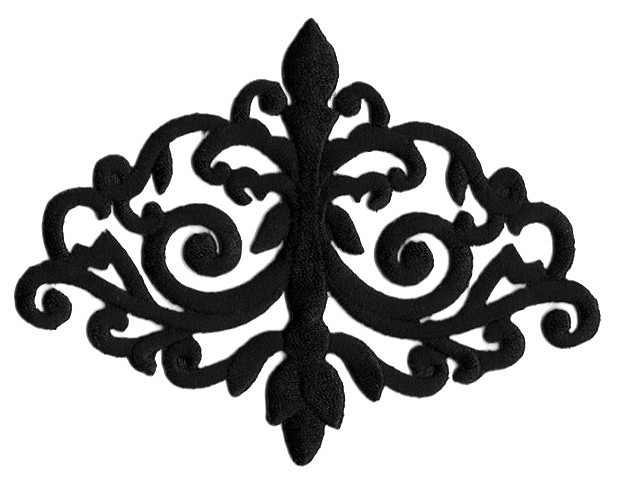 Applikation Patch Tribal 15,7 x 12cm Farbe: Schwarz