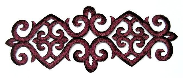 Applikation Patch Tribal 20 x 8cm Farbe: Bordeaux