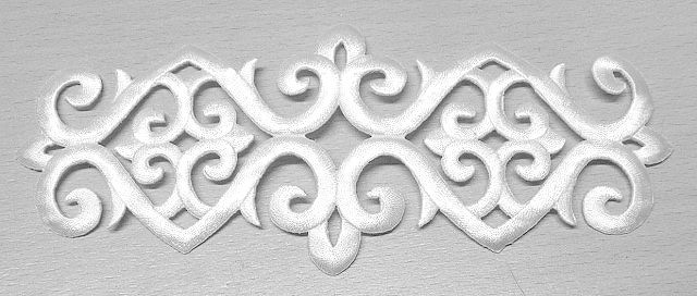 Applikation Patch Tribal 20 x 8cm Farbe: Weiss