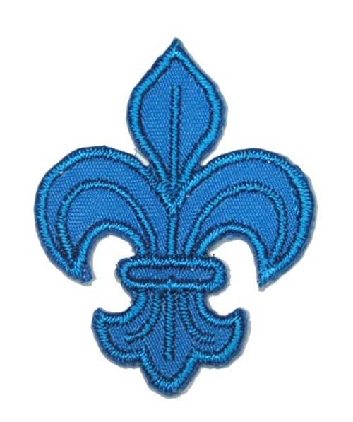 1 Applikation Königslilie Fleur de Lis 3 x 4,2cm Farbe: Blau