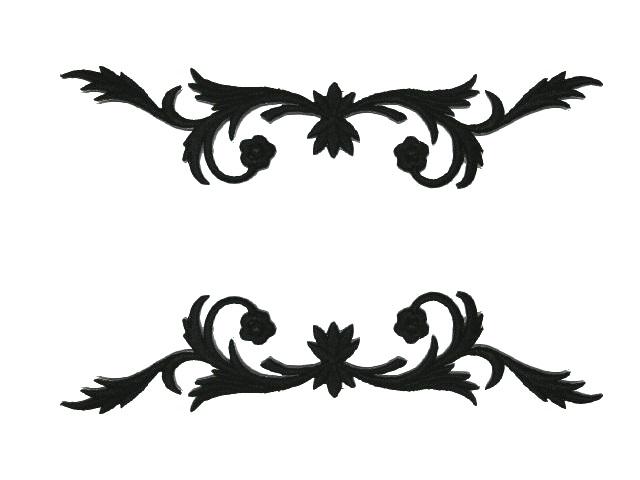 1 Paar historische Applikationen A23 Farbe: Schwarz