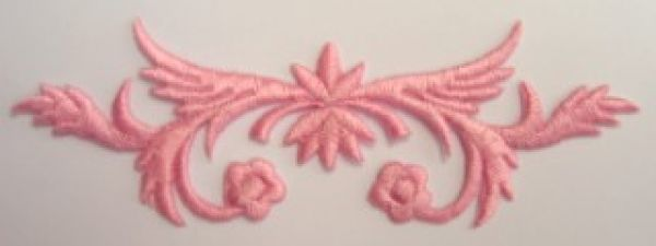 Applikation Sticker Patch Tribal Farbe: Rosa dunkel