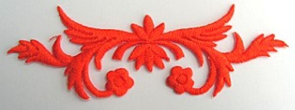 Applikation Sticker Patch Tribal Farbe: kräftiges Orange