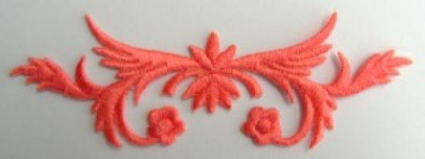 historische Applikation Sticker Patch Tribal Farbe: Orange