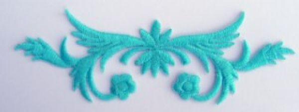 historische Applikation Sticker Patch Tribal Farbe: Blaugrün