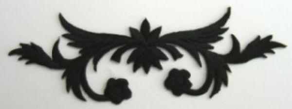 historische Applikation Sticker Patch Tribal Farbe: Schwarz