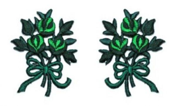 1 Paar Applikationen Rosenstrauß AA340-1