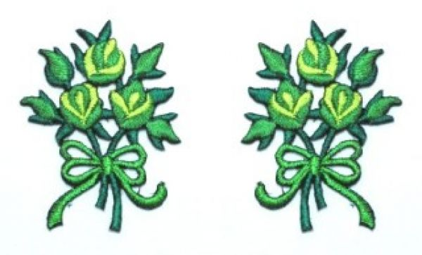 1 Paar Applikationen Rosenstrauß AA340-2