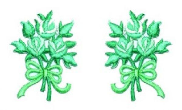 1 Paar Applikationen Rosenstrauß AA340-5