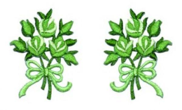 1 Paar Applikationen Rosenstrauß AA340-7
