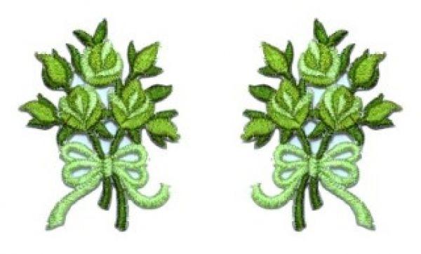 1 Paar Applikationen Rosenstrauß AA340-8