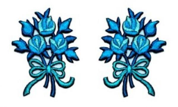 1 Paar Applikationen Rosenstrauß AA340-10