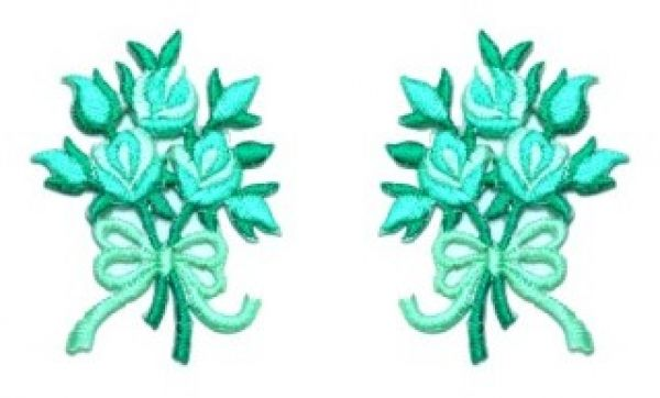1 Paar Applikationen Rosenstrauß AA340-12