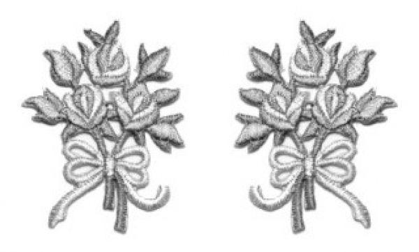1 Paar Applikationen Rosenstrauß AA340-13