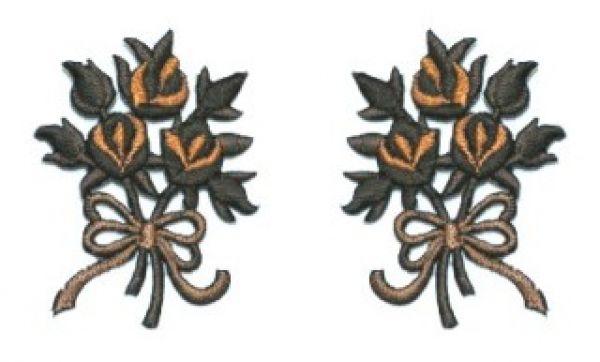 1 Paar Applikationen Rosenstrauß AA340-15