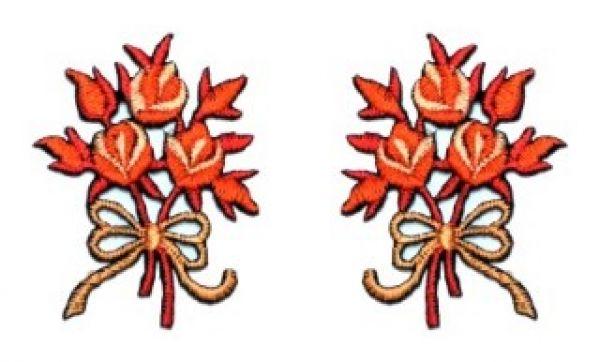 1 Paar Applikationen Rosenstrauß AA340-16