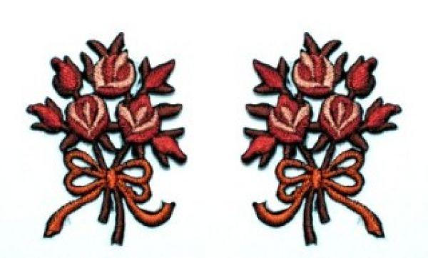 1 Paar Applikationen Rosenstrauß AA340-17
