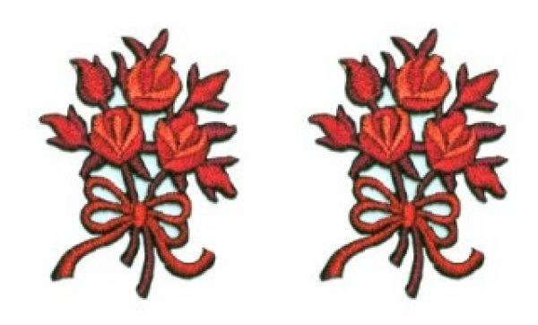 1 Paar Applikationen Rosenstrauß AA340-18
