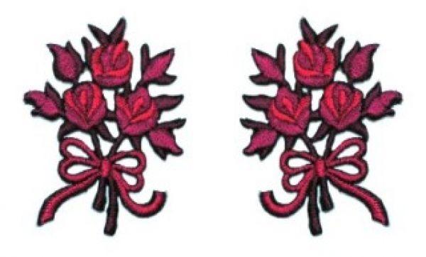 1 Paar Applikationen Rosenstrauß AA340-19