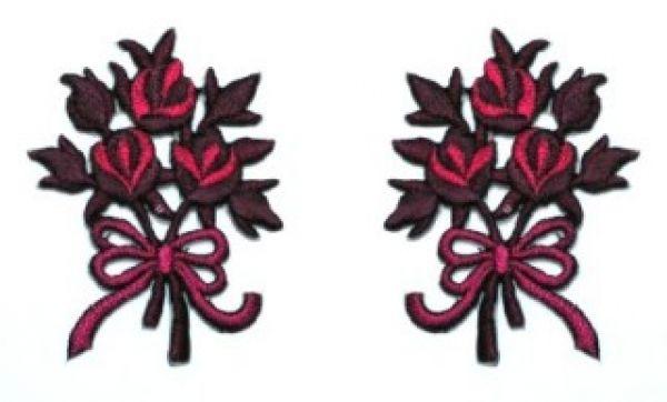 1 Paar Applikationen Rosenstrauß AA340-20
