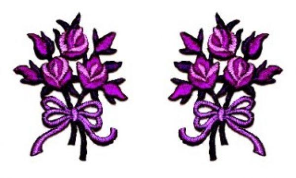 1 Paar Applikationen Rosenstrauß AA340-21