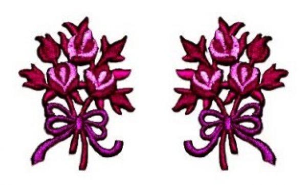 1 Paar Applikationen Rosenstrauß AA340-22