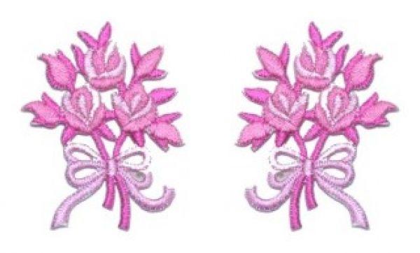 1 Paar Applikationen Rosenstrauß AA340-23