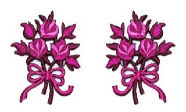 1 Paar Applikationen Rosenstrauß AA340-24