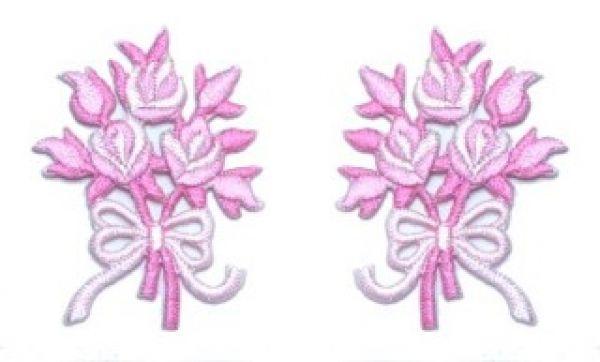1 Paar Applikationen Rosenstrauß AA340-25